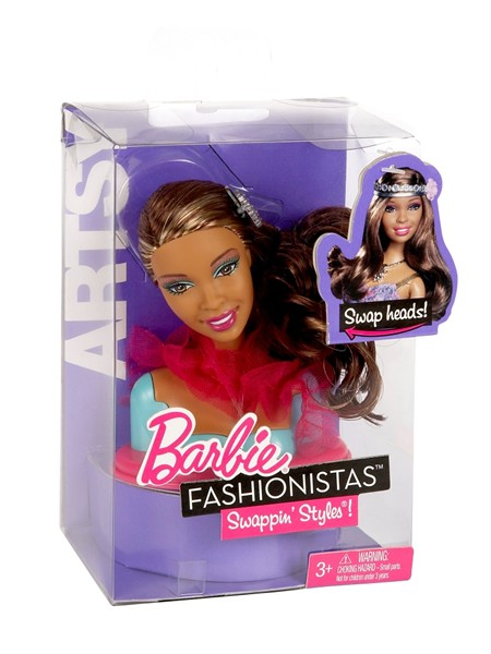Mattel Barbie hlava Fashionistas Swappin Styles - Artsy