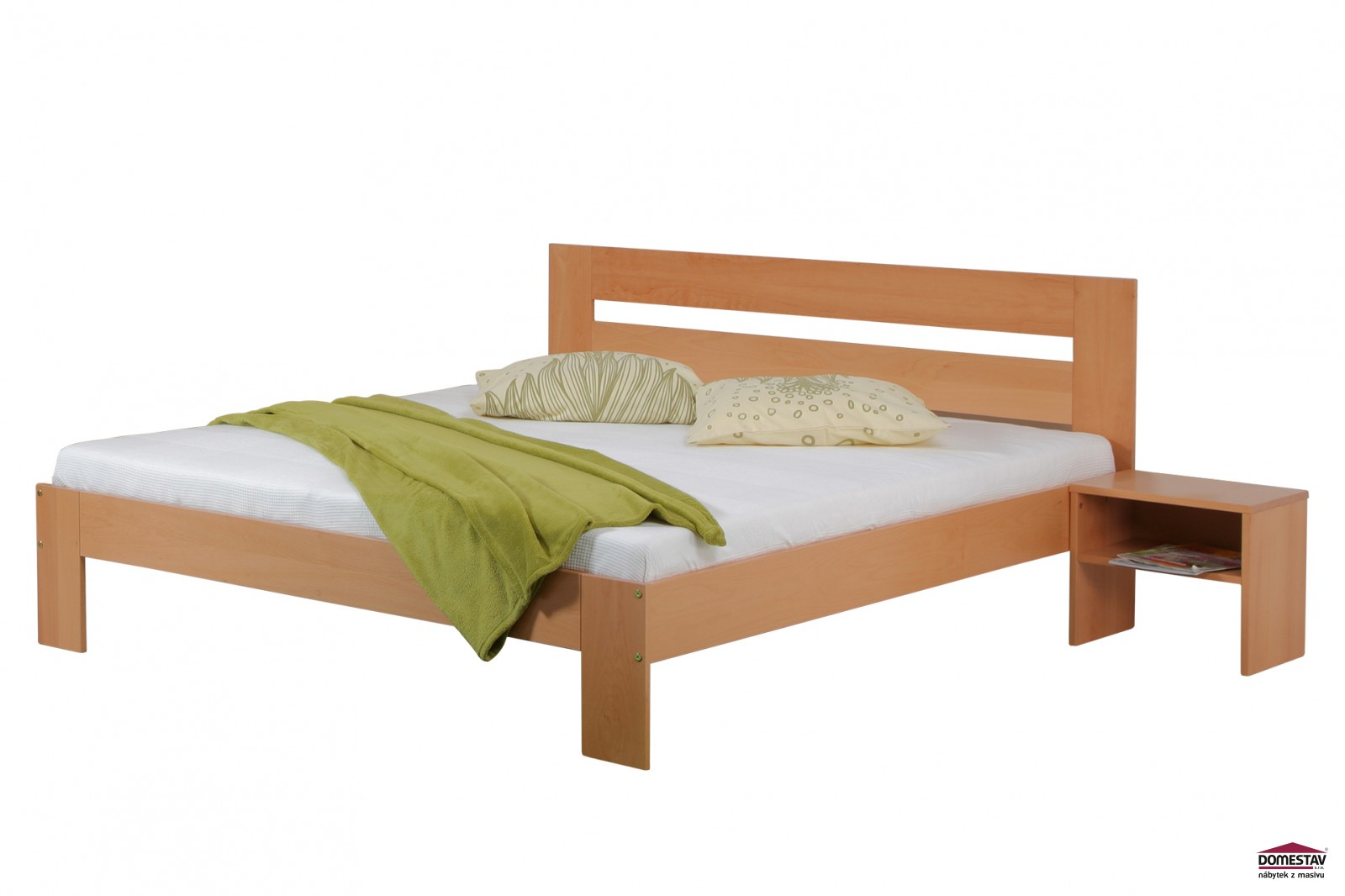 1119acb24195 Domestav manželská postel METAXA 180 cm buk cink
