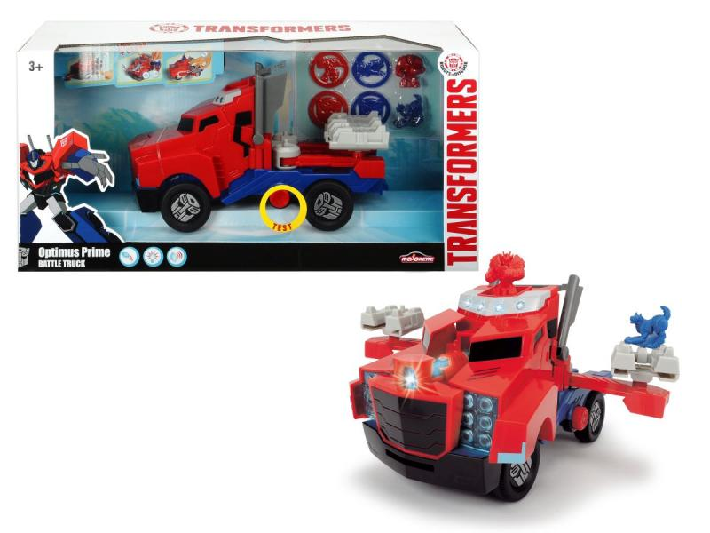 Dickie auto na volnoběh Transformers Optimus Prime Battle Truck 23 cm