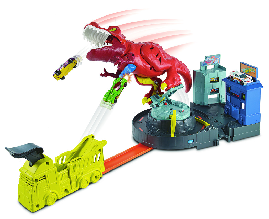 Mattel Hot Wheeels city T-Rex řádí